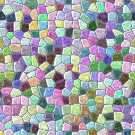 wallboard: pastel full color seamless mosaic pattern texture background with gray grout