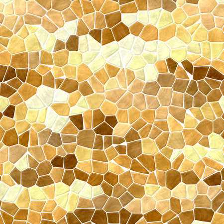 grout: natural brown beige mosaic pattern texture background with white grout