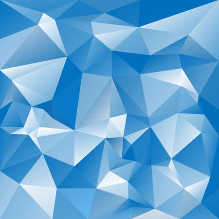 acute: abstract irregular polygon background with a triangular pattern in sky blue colors Illustration