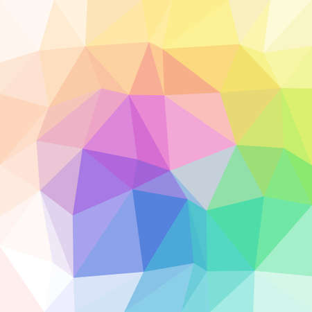abstract irregular polygon background with a triangular pattern in pastel full color spectrum colors