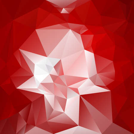 abstract irregular polygon background with a triangular pattern in red and white colors Illustration