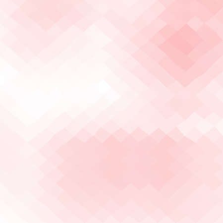 abstract irregular polygon rhombus background with a triangular pattern in sweet pink colors Illustration