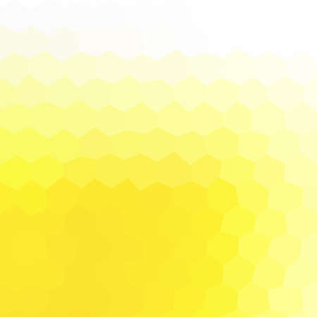 tessellation: abstract irregular polygon hexagon background with a triangular pattern in vibrant yellow colors