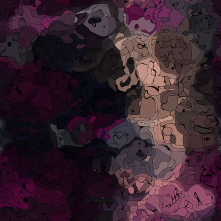 piebald: modern abstract stained pattern texture background - dark purple, pink and brown colored Stock Photo