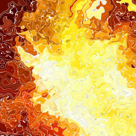 pied: modern abstract stained pattern texture background - fire yellow, orange, red and brown colored
