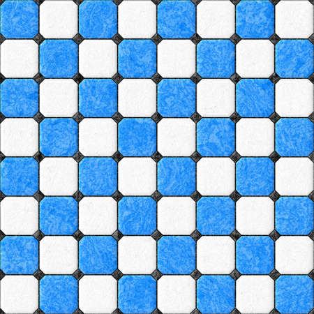 flooring design: blue white black floor tiles seamles pattern texture background