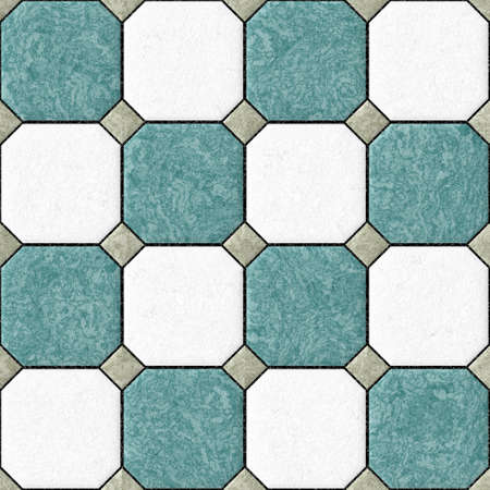 blue white gray  floor tiles seamles pattern texture background Stock Photo