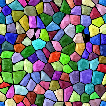 grout: colorful marble irregular plastic stony mosaic seamless pattern texture background with black grout