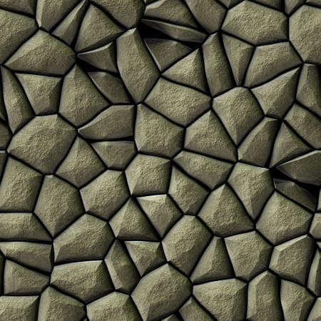 cobble: gray cobble stony pattern with rouhg surface texture - irregular seamless background Stock Photo