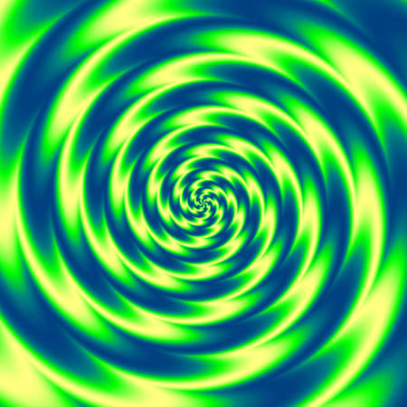 significantly: blue, yellow and green magic rounded swirl background