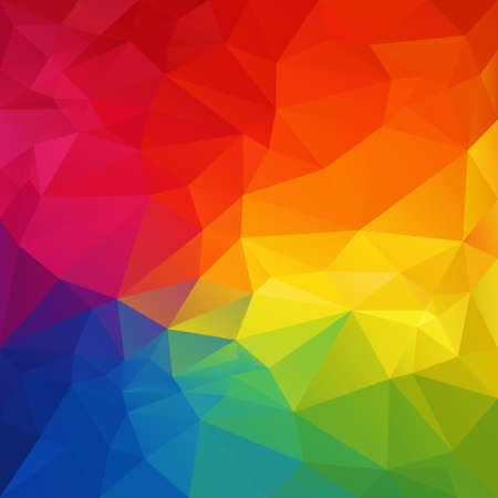 color spectrum: vector abstract irregular polygon background with a triangular pattern in full color spectrum rainbow colors Illustration