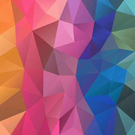 vector abstract irregular polygon background with a triangular pattern in full color spectrum rainbow colors Illustration