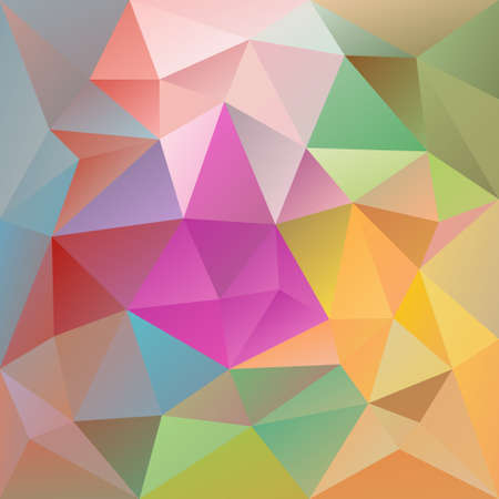 vector abstract irregular polygon background with a triangular pattern in pastel full color spectrum colors