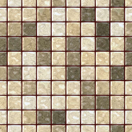natural beige marble stony mosaic seamless pattern texture background with dark brown grout - regular squares
