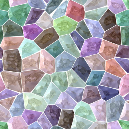 grout: pastel colorful spectrum marble stony mosaic seamless pattern texture background with white  grout Stock Photo