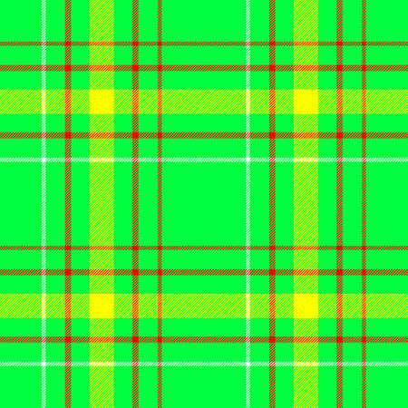 green, yellow and red check diamond tartan plaid fabric seamless pattern texture background