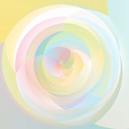 rotund: abstract modern swirl background colored - pastel rainbow colorful