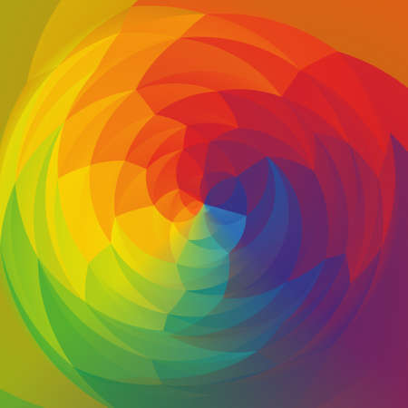 rotund: abstract modern swirl colored background - rainbow spectrum colorful Stock Photo