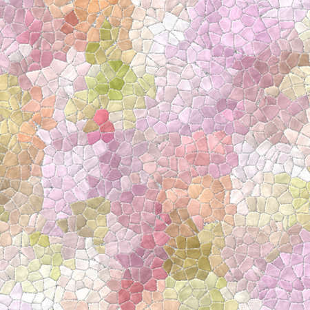 tessellate: light pastel colored abstract marble irregular plastic stony mosaic pattern texture background with gray grout - pink, purple, violet, orange and green colors