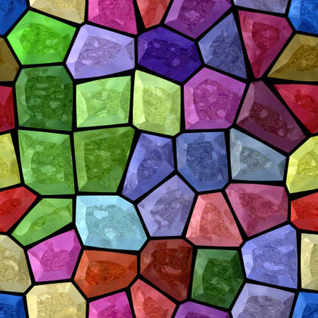 grout: full spectrum multi colored abstract marble irregular plastic stony mosaic pattern texture seamless background with black grout
