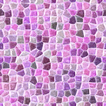 tessellate: pastel pink, purple and violet colored abstract marble irregular plastic stony mosaic pattern texture seamless background with white grout