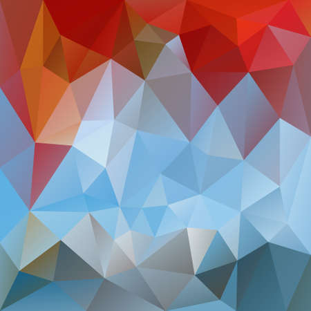 vector abstract irregular polygon background with a triangular pattern in blue and red colors