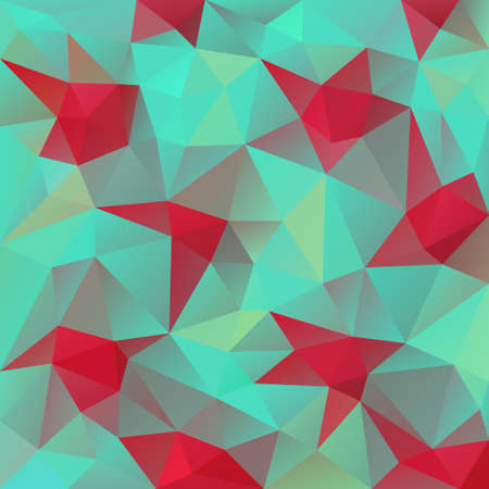 tessellated: vector abstract irregular polygon red stars on the blue background with a triangular pattern
