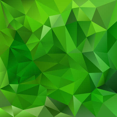 vector abstract irregular polygon background with a triangular pattern in natural green colors Illustration