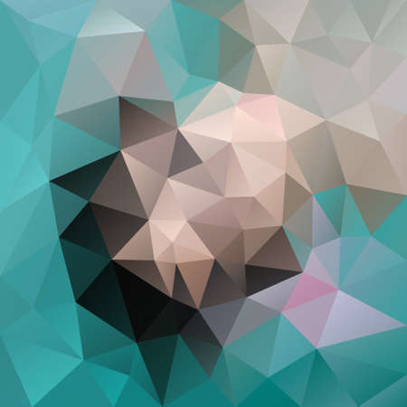 vector abstract irregular polygon background with a triangular pattern in blue, green, beige and gray colors