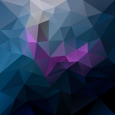 tessellated: vector abstract irregular polygon background with a triangular pattern in dark blue, purple and violet colors