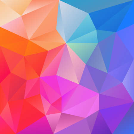 multi colors: vector abstract irregular polygon background with a triangular pattern in neon blue pink purple multi colors