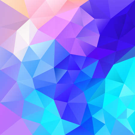 multi colors: vector abstract irregular polygon background with a triangular pattern in vibrant blue, pink and purple multi colors