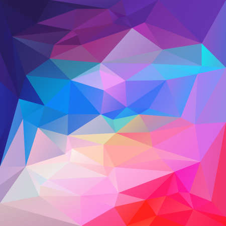 vector abstract irregular polygon background with a triangular pattern in vibrant blue, purple, pastel and hot pink colors