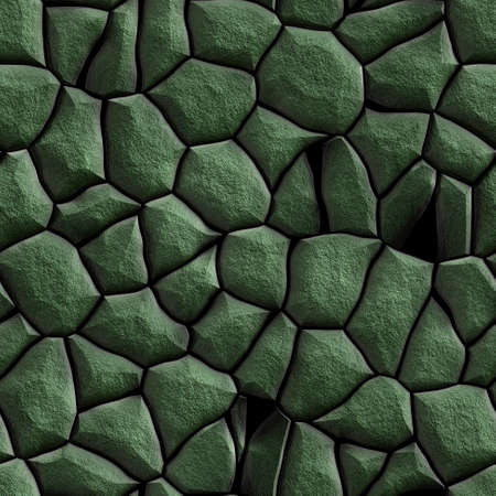 wallboard: stone pavement covered with green moss - seamless pattern texture background