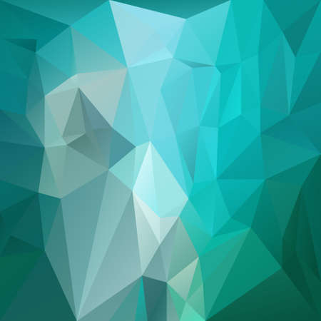 Abstract irregular polygon  with a triangular pattern in blue, green and turquoise colors