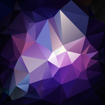 Abstract irregular polygon  with a triangular pattern in dark purple, blue and violet colors