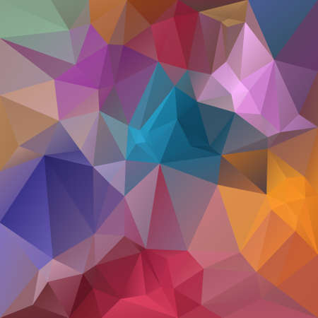 Abstract irregular polygon with a triangular pattern in full spectrum pastel multi colors