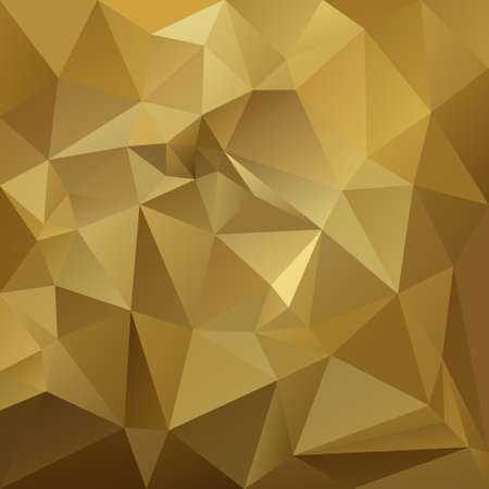 Abstract irregular polygon with a triangular pattern in gold beige yellow and brown colors Stock Illustratie