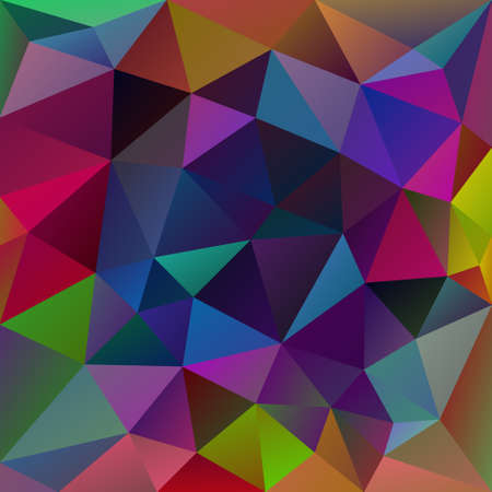 multi colors: Abstract irregular polygon with a triangular pattern in full spectrum neon multi colored colors