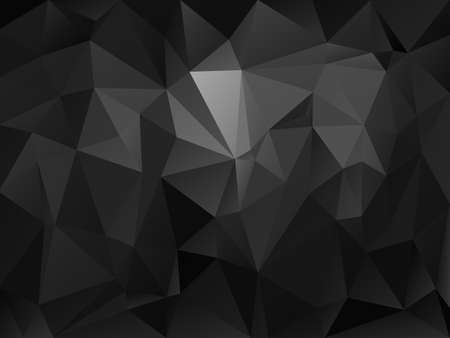 abstract irregular polygon background with a triangle pattern in dark gray and black color Illustration