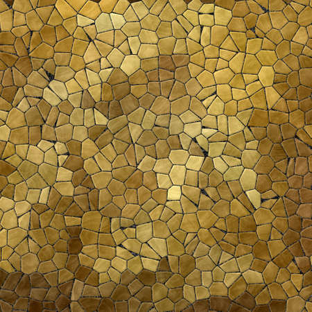 grout: gold, beige, yellow colored abstract marble irregular plastic stony mosaic pattern texture background with gray grout - natural colors