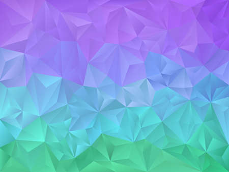 neon green: vector abstract irregular polygon background with a triangle pattern in vibrant neon green, blue, purple color