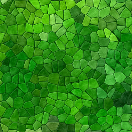 green colored abstract marble irregular plastic stony mosaic pattern texture background with dark grout - natural colors  Stock Photo