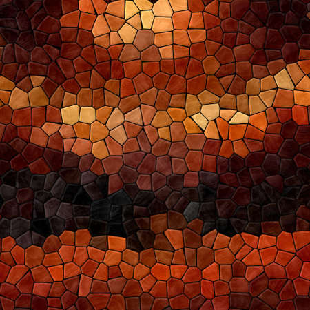 tessellate: colored abstract marble irregular plastic stony mosaic pattern texture background with black grout - dark brown, orange, beige colors
