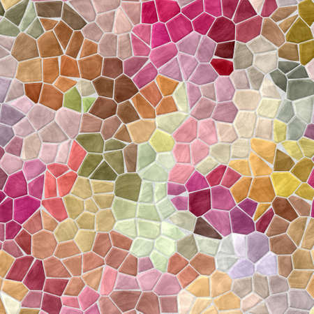 grout: colored abstract marble irregular plastic stony mosaic pattern texture background with gray grout - multicolored pastel colors   Stock Photo
