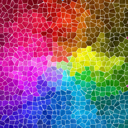 tessellate: colored abstract marble irregular plastic stony mosaic pattern texture background with white grout - full spectrum rainbow colors