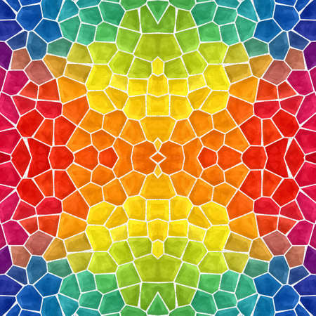 mosaic kaleidoscope seamless pattern texture background - full color rainbow spectrum colored with white grout