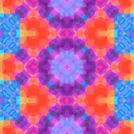 mosaic kaleidoscope seamless pattern texture background - full color rainbow spectrum colored