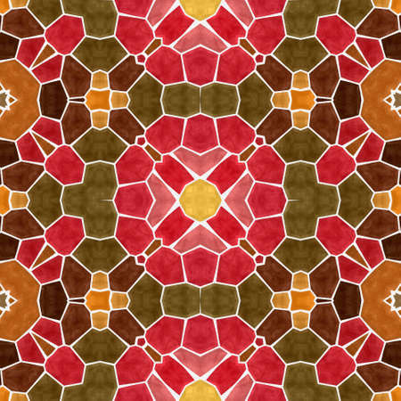 mosaic kaleidoscope seamless pattern texture background - multi colored with white grout