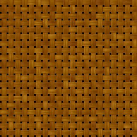 woven rattan wicker weave seamless pattern texture background - dark brown color